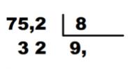 division con decimales en divisor y cociente
