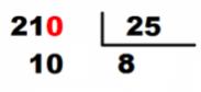 pasos división decimales cociente
