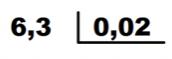 pasos división con decimales en le divisor