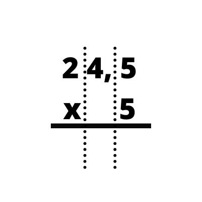 Multiplicación con decimales
